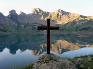 Sur le lac d'Allos (Mercantour)